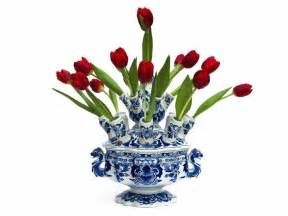 tulip vase delft porcelain style material objections