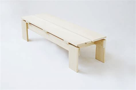 raw bench raw basswood bench by david salmela danish teak classics