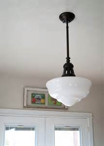The dining room averie lane schoolhouse light for the dining room