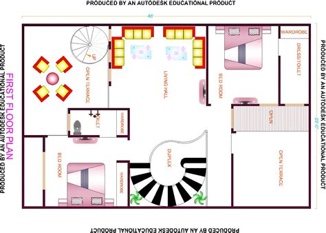 24 spectacular house map design house plans 5992