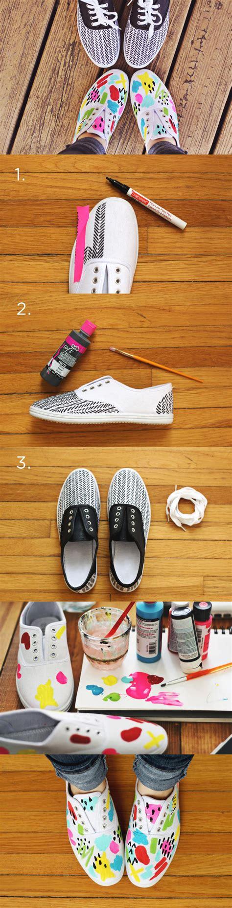 decorar zapatos con marcadores personaliza tus zapatillas diy ideas pinterest