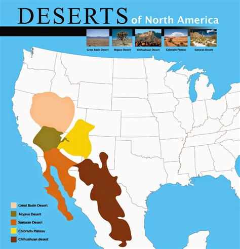 map us deserts for the