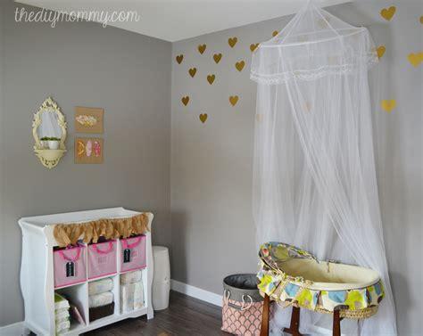 Custom Canopy Bed baby b s soft boho nursery the diy mommy