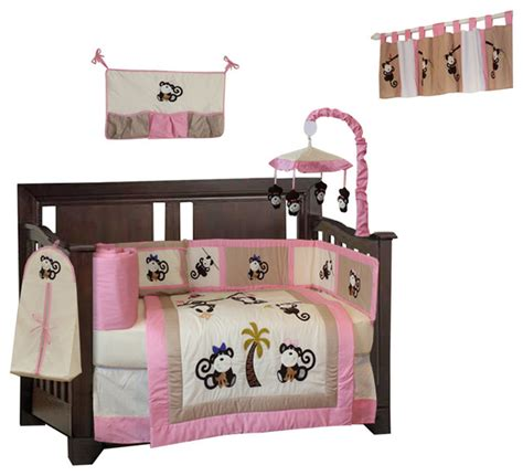Pink Monkey Crib Bedding Sets Monkey 10 Crib Bedding Set Brown Baby Bedding By Babyfad