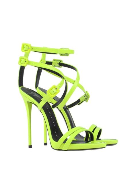 lime high heels giuseppe zanotti new and sold out neon lime green high