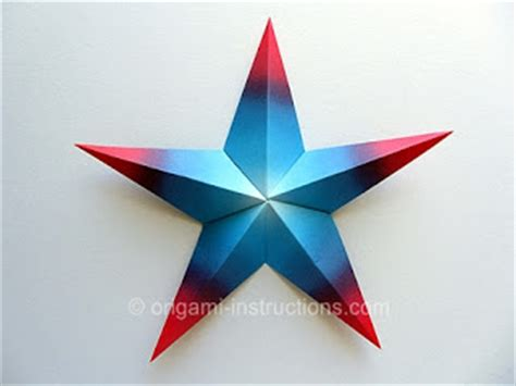 5 Point Origami - origami modular 5 pointed