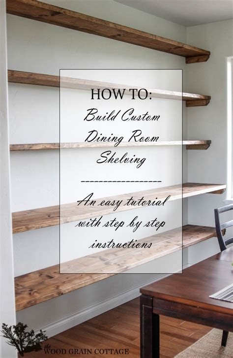 dining room shelving diy dining room open shelving the wood grain cottage