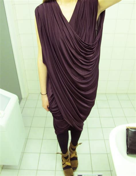 Diy Draped Dress Anywho I Wish I Could Drape Fabric And