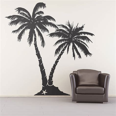 Purple And Black Bedroom Designs - palm tree beach wall sticker by oakdene designs notonthehighstreet com