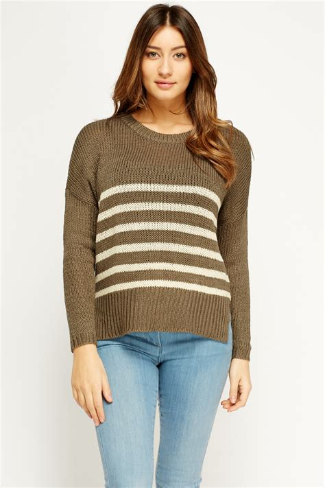knitting pattern loose jumper loose knit stripe jumper just 163 5