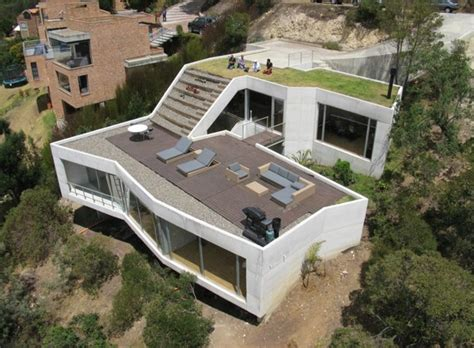 rooftop deck house plans casa v has a green roof into a living room inhabitat green design innovation architecture
