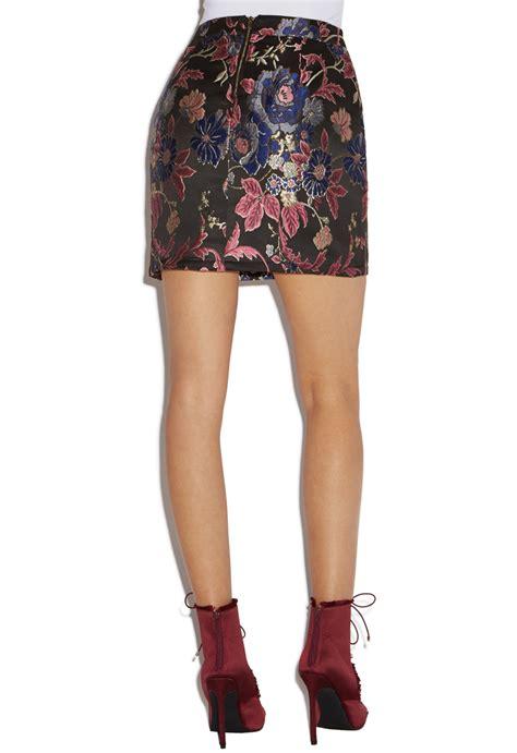 Jacquard A Line Skirt jacquard a line skirt shoedazzle