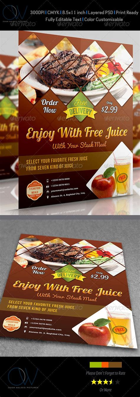 flyers design templates for restaurant 8 best images about restaurant flyer designs on pinterest