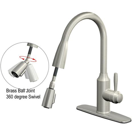 glacier bay fp4a4080ss invee 8 in pulldown kitchen faucet