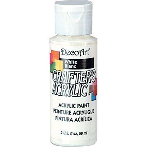 acrylic paint white white decoart 174 crafter s acrylic paint basic white