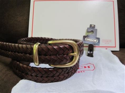 Coach Belt With Box Ikat Pinggang Branded Original Mur Murah 3 nwt coach mens brown leather braided belt 5922 sz 34 ebay