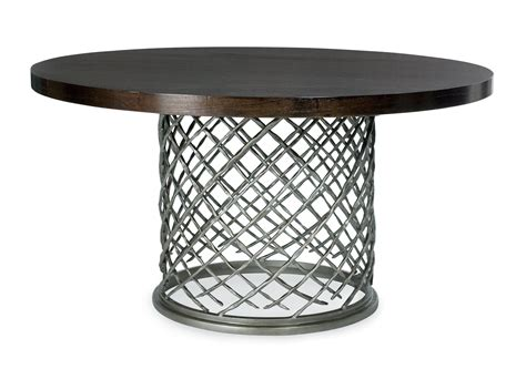 Metal Dining Table With Glass Top Bernhardt Metal Dining Table With Wood Top 54 Quot Bernhardt