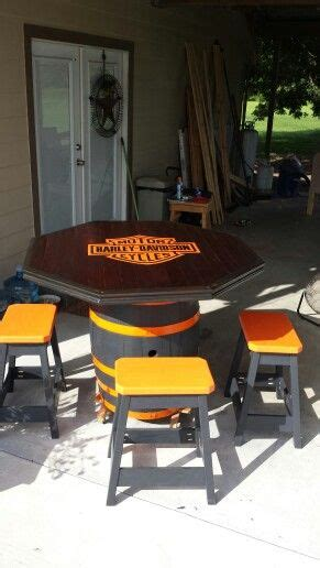 Harley Davidson Table And Stools by Harley Davidson Barrel Table And Stools Harley Davidson