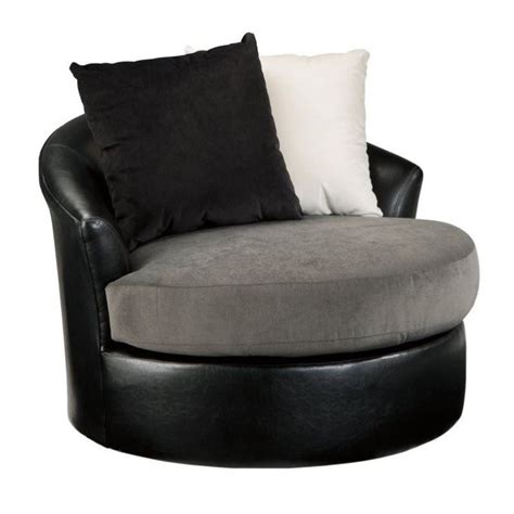 Ashley Armant Swivel Accent Chair In Ebony 2020044 Accent Chair Swivel