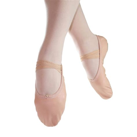 ballet slippers for adults danzcue split sole leather ballet slipper dqbs002a