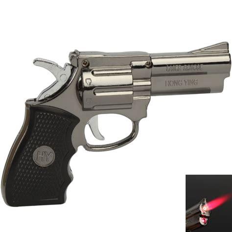 Unique Design Butane Jet Lighter With Clock Function laser gun shape refillable butane cigarette lighter silver