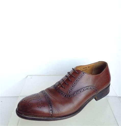 w nordstrom mens shoes size 8 5 m brown leather dress shoes 2694 ebay