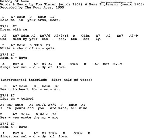 melody lyrics song lyrics with guitar chords for melody of the