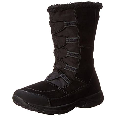 easy spirit snow boots easy spirit 0526 womens edwardson suede water repellent