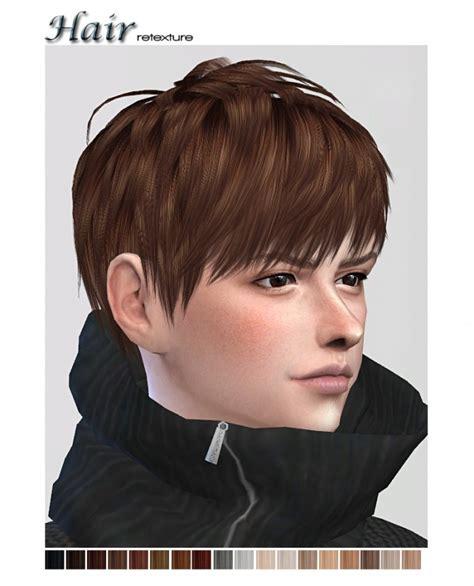 sims 4 custom content hairstyles retexture of ryuffys short layered hair at shojoangel