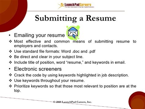 What To Say When Sending Your Resume