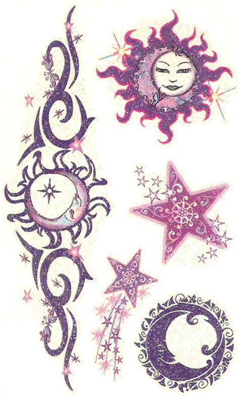 glitter mystical celestial tattoo