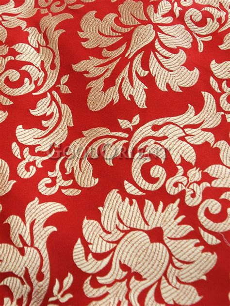fabrics wallcoverings design source finder florida chinese red and gold brocade fabric chinese fabrics
