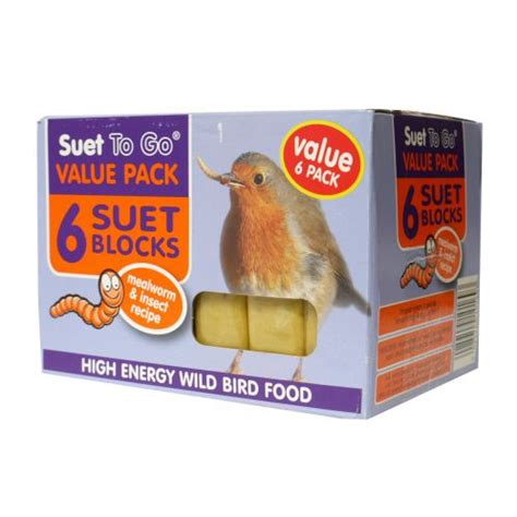 buy unipet suet to go wild bird food suet blocks pack 6
