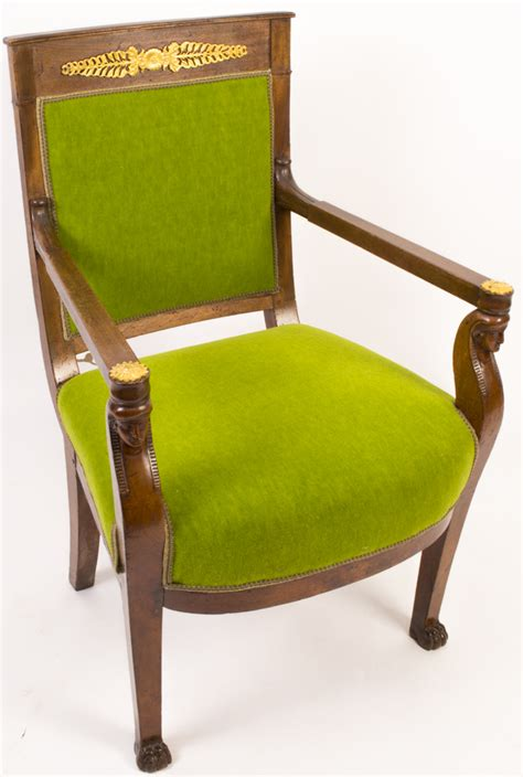 antique empire style mahogany armchair c 1880