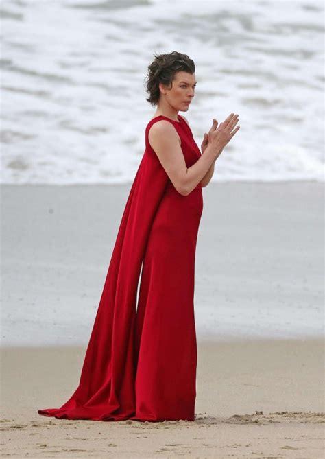 Dress Milla milla jovovich in dress on photoshoot 24 gotceleb