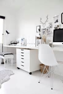 White Home Office Desks Not Shabby Ikea Alex Drawer Units