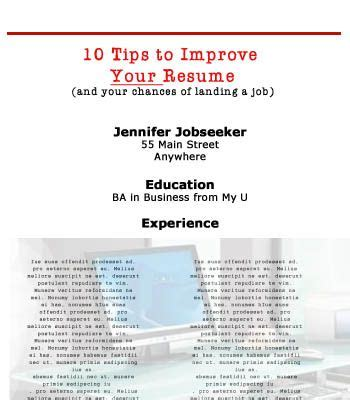 tips to improve your resume tips landing and resume