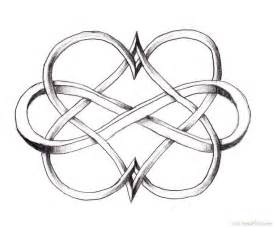 Cool Double Heart Infinity Tattoo Design Http//bestpickr  sketch template