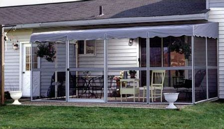 patio mate screened enclosure white gray color