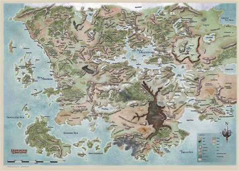 faerun map the wertzone the worlds of d d forgotten realms