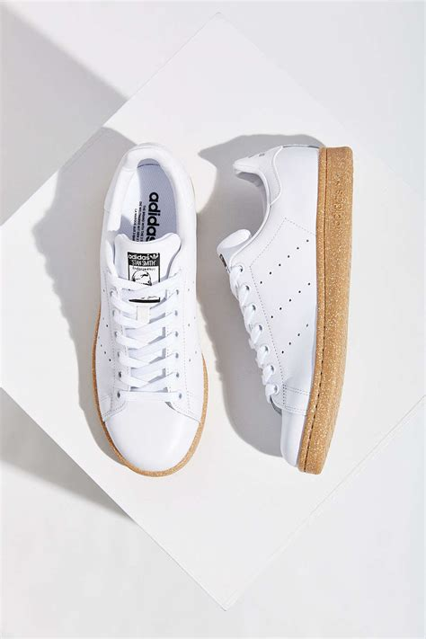 white sneakers gum sole adidas originals stan smith white gum sole soletopia