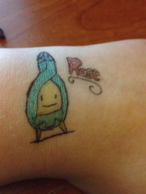 tattoo pen rose rose the budew gel pen tattoo by thegrassninja on deviantart