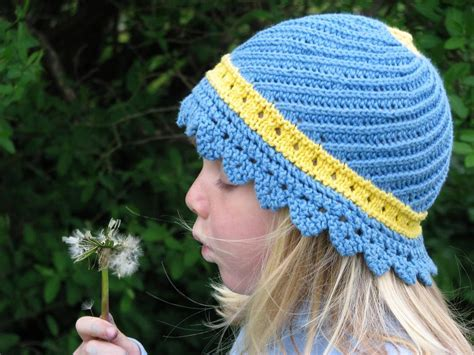 knit kid hat pattern 7 adorable sun hat knitting patterns for