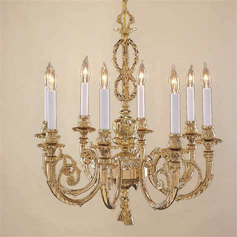 Brass Chandelier Jvi Designs 758 05 8 Light Majestic Cast Brass Chandelier