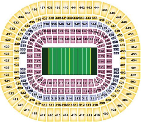 st louis rams seating chart map edward jones dome st louis