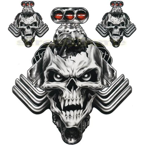 decal graphic for motorcycle windscreens engine skull car