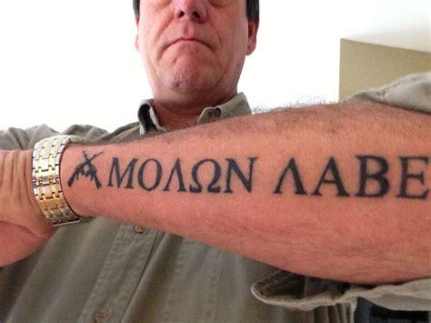 molon labe tattoo designs molon labe s