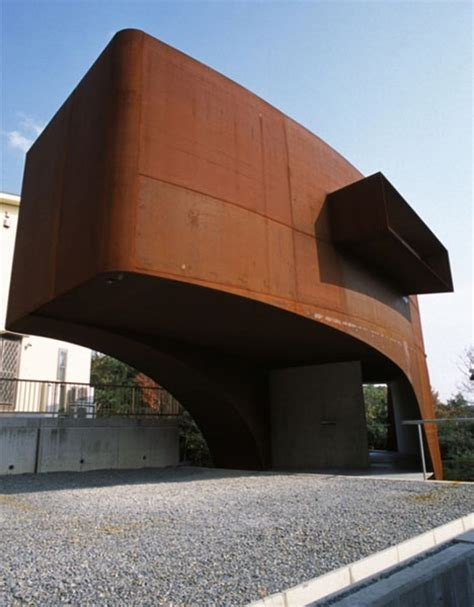 floating steel bridge to nowhere cantilever house design