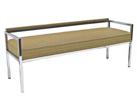 milo baughman low back bench sofa or loveseat at 1stdibs