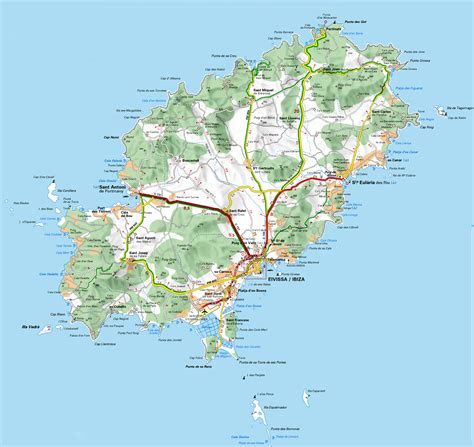 printable ibiza road map ibiza map mapsof net